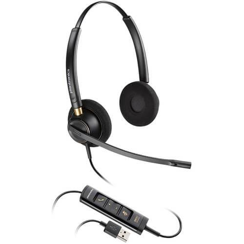 Plantronics EncorePro HW525 UC Binaural USB Headset