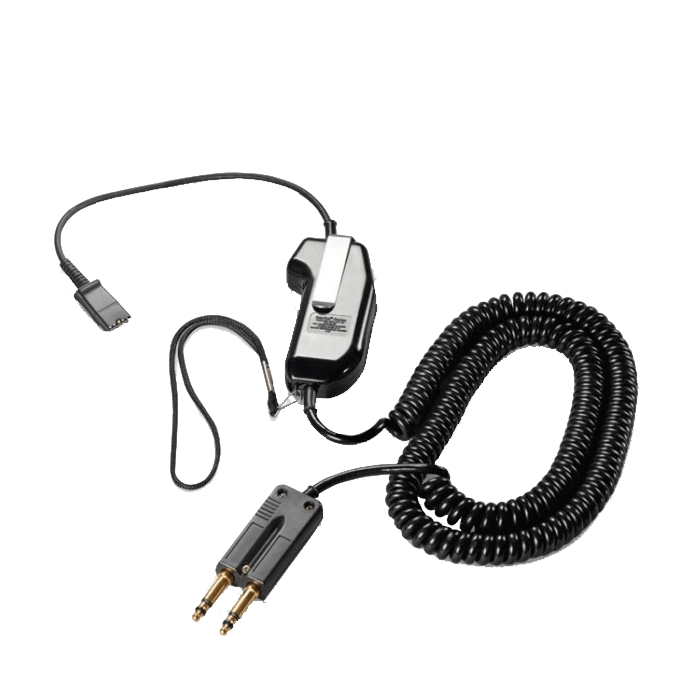 Plantronics 1982-15 Corded PTT Adapter (15ft Cable)
