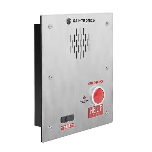 GAI-Tronics RED ALERT Weather-resistant Flush-mount Analog Emergency Telephone