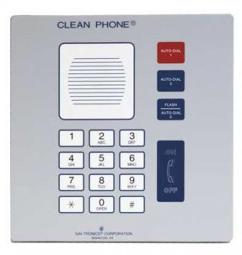 GAI-Tronics Analog Clean Phone Flush-Mount (295-001F)