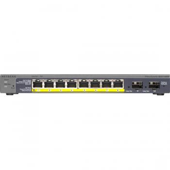 Netgear Prosafe GS110TP 8-Port Gigabit PoE Smart Switch with 2 Gigabit Fiber SFP