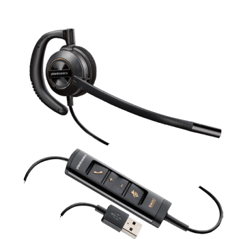 Plantronics EncorePro HW535 UC Over the Ear USB Corded Headset