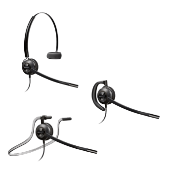 Plantronics EncorePro HW540D Convertible UC Digital Noise Canceling Headset - USB connector sold separately