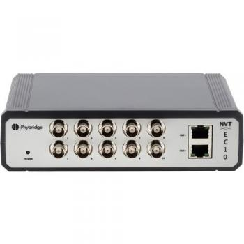 NVT Phybridge NV-EC-10 10 Port Unmanaged Ethernet/PoE over Coax