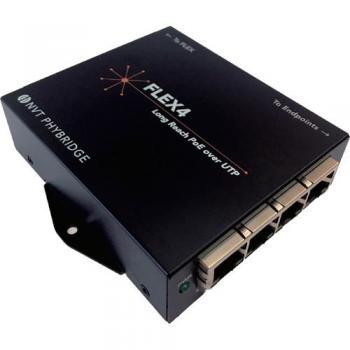 NVT Phybridge NV-FLX-04 4-Port Long-Reach PoE Over UTP Adapter