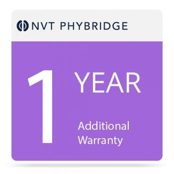 NVT Phybridge NV-CLR-024-1000-MTNC-1 1 Year Additional Warranty for Cleer 24-Port Switch with 1000 Watt Power Supply