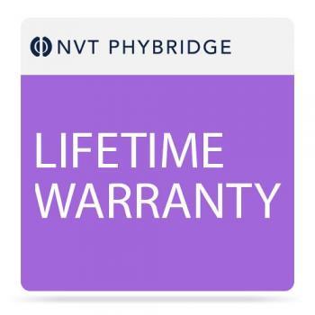 NVT Phybridge NV-PL-08-MTNC-L Lifetime Warranty for PoLRE 8 Port Switch