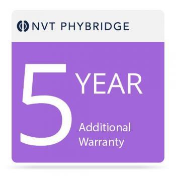 NVT Phybridge NV-FLX-024-1000-MTNC-5 5 Additional Years Warranty for Flex 24-Port Switch with 1000 Watt Power Supply