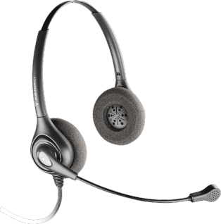 Plantronics SDS 2491-01 SupraPlus Dynamic Binaural QD Headset - 92491-01